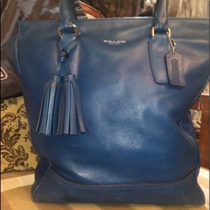 💯 % AUTHENTIC COACH BLUE LEATHER TOTE